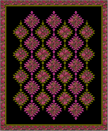 A quilt that I made for my mother.