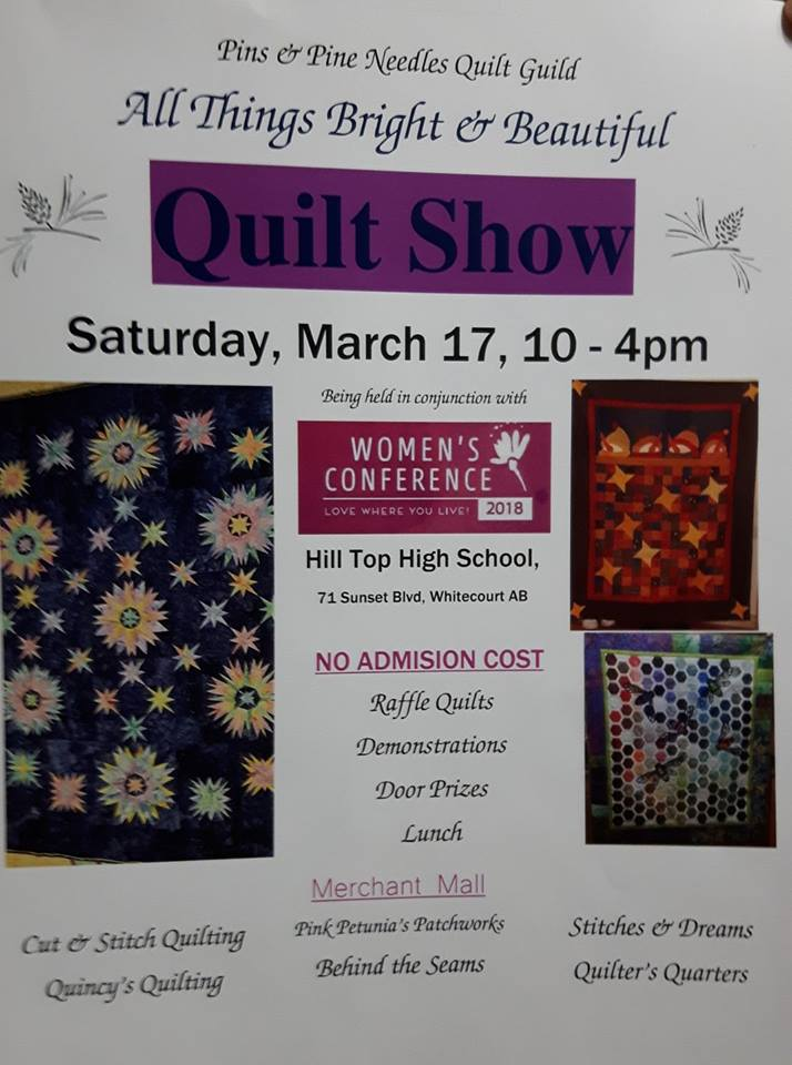 2018 quilt show poster
