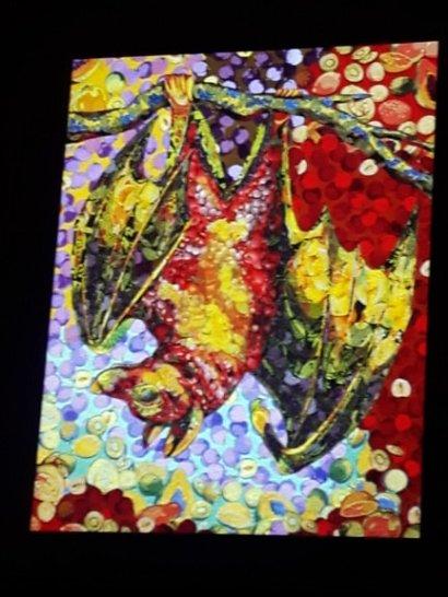 bat made with fruit fabrics