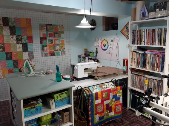 This is the south west corner my sewing corner.