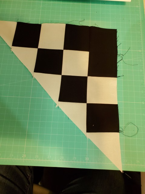 sew the last 2 together to make the block